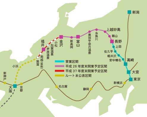 91_北陸新幹線開業予定図