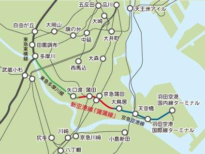 「蒲蒲線」予定路線図