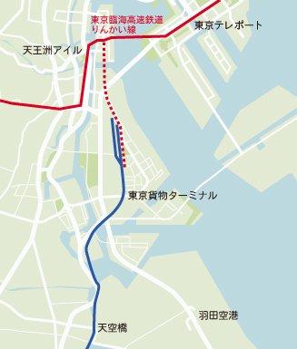 りんかい線延伸計画図