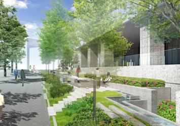 新病院横の緑道イメージ