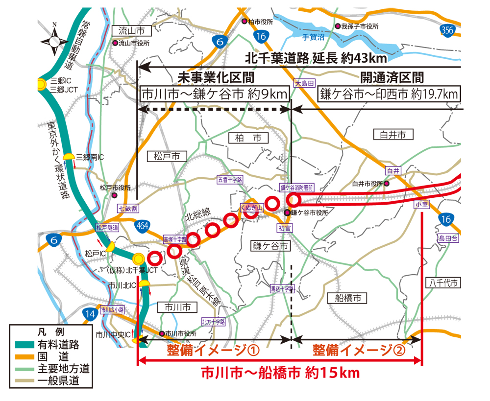 北千葉道路整備イメージ(引用:千葉県HP)