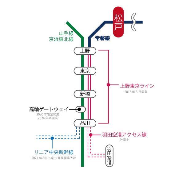 松戸からのアクセスはさらに便利に