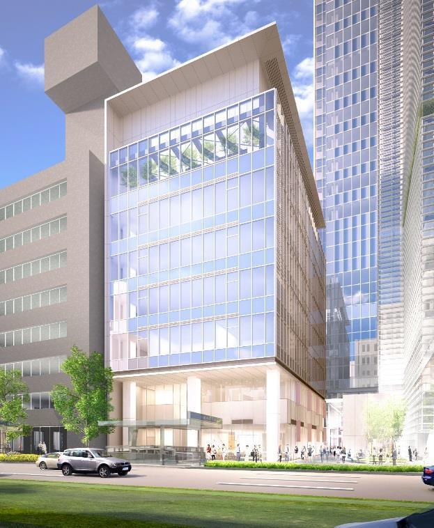 外観イメージパース(A-2街区)画像出典:「八重洲二丁目北地区第一種市街地再開発事業」着工