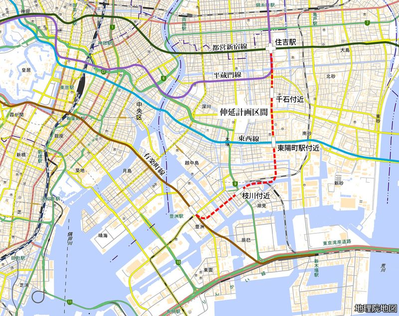 8号線延伸の計画路線